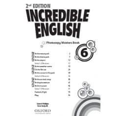 Incredible English 6 Photocopy Masters Book 2nd