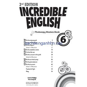 Incredible English 6 Photocopy Masters Book 2nd Edition