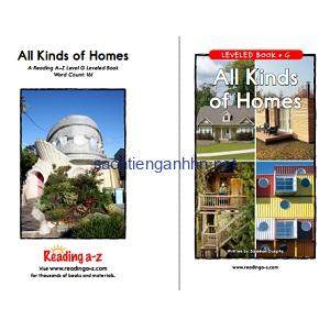 Reading A-Z Level G- All Kinds of Homes
