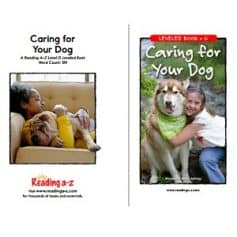 Reading A-Z Level G- Caring for Your Dog