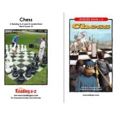 Reading A-Z Level G- Chess