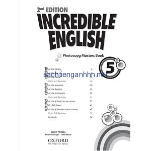 Incredible English 5 Photocopy Masters Book 2nd Edition