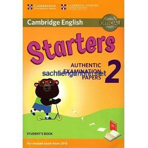 Cambridge English Starters 2 Student Book 2018