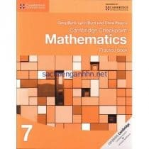 Cambridge Checkpoint Mathematics 7 Practice Book