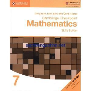 Cambridge Checkpoint Mathematics 7 Skills Builder Workbook