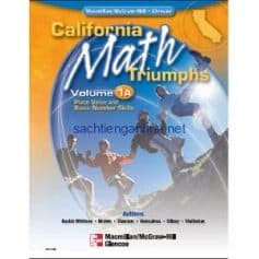 California Math Triumphs Place Value and Basic Number Skills 1A
