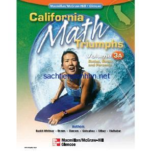 California Math Triumphs Ratios, Rates, and Percents, Volume 3A