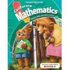 California Mathematics Concepts Skills and Problem Solving Grade 2