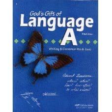 God's Gift of Language A Writing & Grammar Work-text - Abeka Grade 4