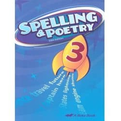 Spelling and Poetry 3 - Abeka