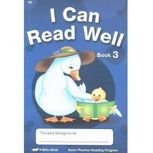 I Can Read Well - Abeka K5 Book 3