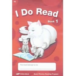 I Do Read - Abeka K5 Book 1