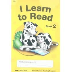 I Learn to Read - Abeka K5 Book 2