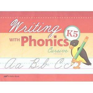 Writing with Phonics - Abeka K5